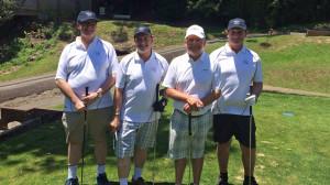 L-R Dougal Watson, Tony Galletta, Hugh Dolan (Professional Golfer), Ian Carter