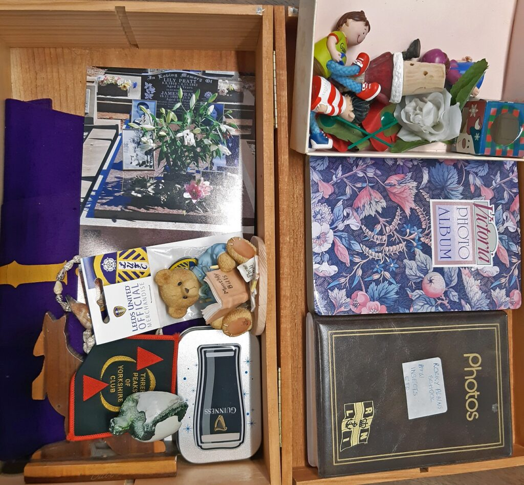 Moran resident Evelyn sees her Memory Box for the first time - this is what it contains